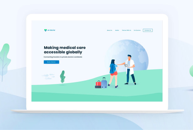 Air doctor website UX/UI design