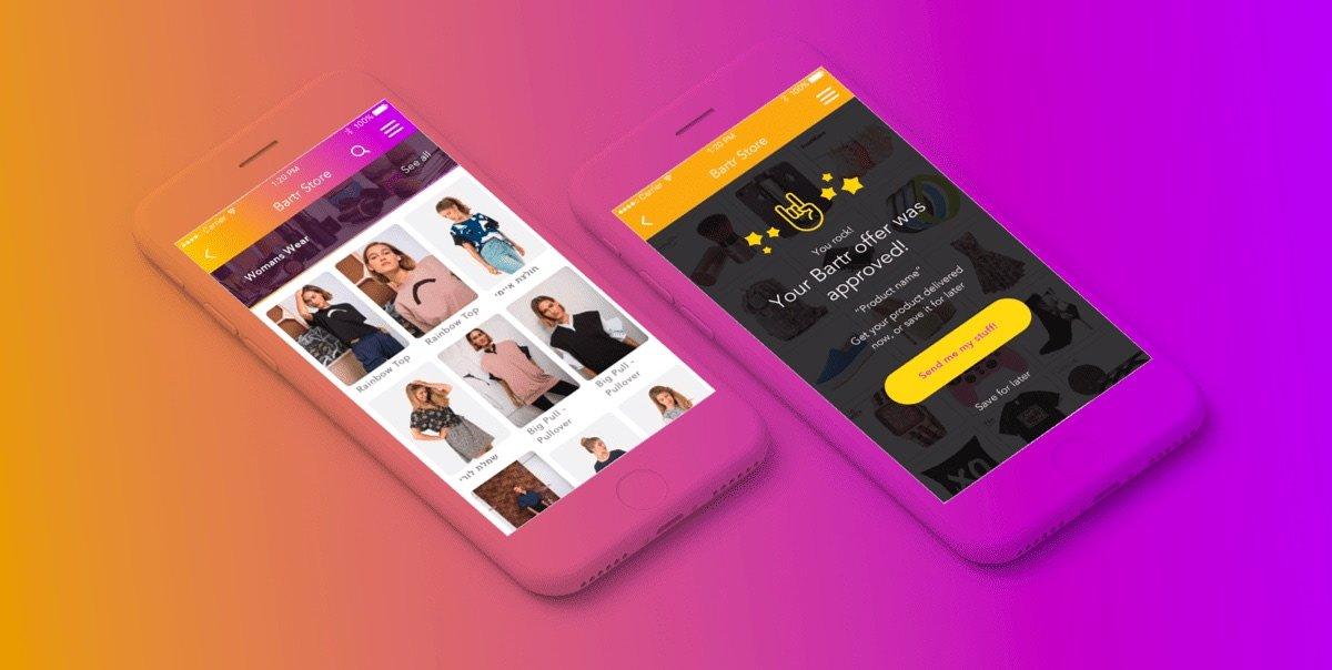 Bartr app UX/UI and branding