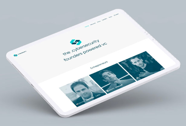 Cyberstarts webite UX UI design