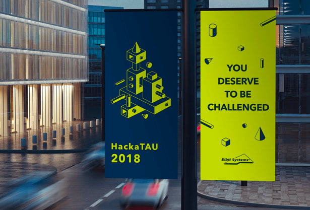 Elbit Hackatau - Elbit and Tel-Aviv university event branding