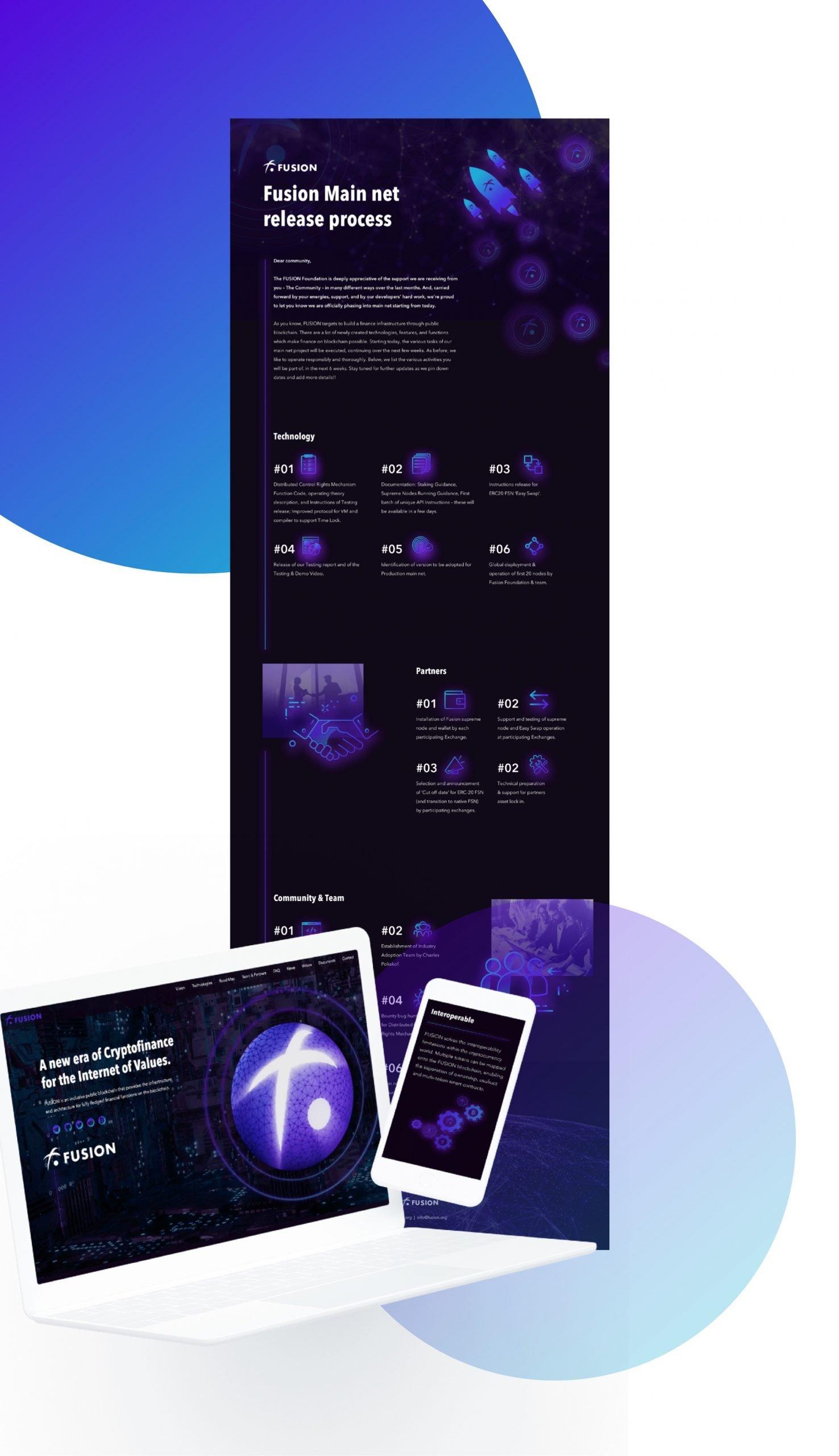 Fusion website design by hello.