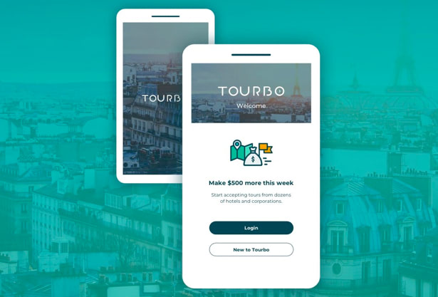 Tourbo app UX/UI by hello design