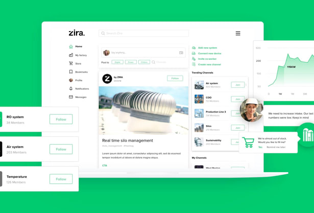 UX and UI design for Zira product