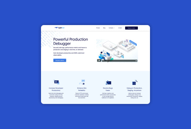 Lightrun-website-design-UX-UI