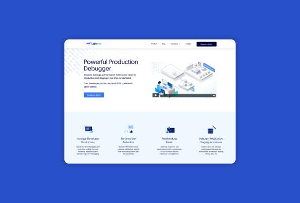 Lightrun-website-design-UX-UI