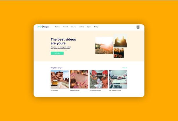 UX UI design- hello-design-Vimeo-Magisto-design