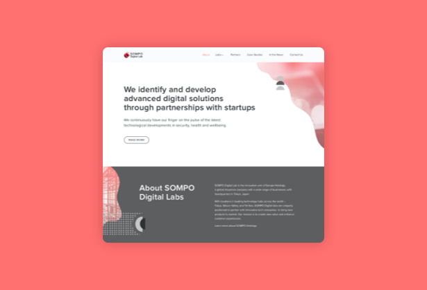 UX-UI-design-Sompo-digital-labs-website-hello